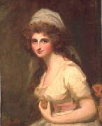 George Romney Emma Hart, later Lady Hamilton, in a White Turban oil painting on canvas