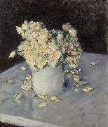 Gustave Caillebotte Yellow Roses in a Vase oil painting reproduction