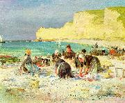 Henry Bacon Etretat oil painting artist
