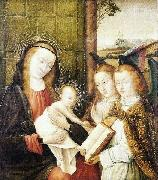 Jan provoost Madonna and Child with two angels oil painting reproduction