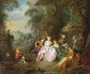 Jean-Baptiste Pater Repose in a Park Sweden oil painting artist