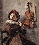 Judith leyster Young Flute Player oil painting reproduction