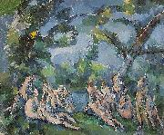 Paul Cezanne Badende oil painting on canvas
