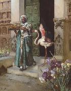 Rudolf Ernst Entering the Palace Gardens oil painting artist