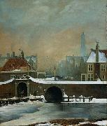 Wouter Johannes van Troostwijk The Raamgate at Amsterdam oil painting artist