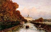 Alexey Bogolyubov View to Michael's Castle in Petersburg from Lebiazhy Canal oil painting artist