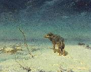 Alfred de Dreux The lone Wolf oil