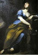 Andrea Vaccaro Penitent Mary Magdalene. oil painting artist