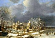 BORSSUM, Anthonie van Poelgeest Castle at Koudekerk near Leiden oil painting artist