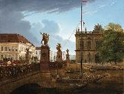 Friedrich Wilhelm Keyl View of Schlossbruke and Zeughaus oil painting artist