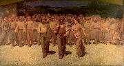 Giuseppe Pellizza da Volpedo The Fourth Estate oil painting artist