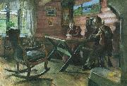 Harriet Backer Kolbotnstua oil painting artist