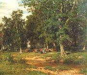Ivan Shishkin Haymaking in Oak Grove oil painting reproduction