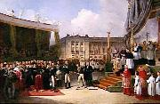 Jean de Beaumetz Inauguration du monument a la memoire de Louis XVI oil painting artist