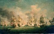 Richard Paton The Battle of Barfleur, 19 May 1692 oil painting reproduction