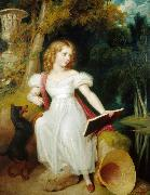 Richard Westall Portrait of Princess Sophia oil painting artist