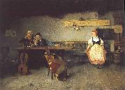 Simon Hollosy In the Tavern oil painting artist