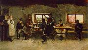 Simon Hollosy Carousing in the Tavern oil painting artist