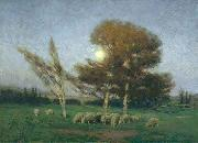 William Bromley Early Moonrise in September oil painting artist