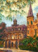 William Woodward Old Cabildo and Gateway to Jackson Square oil painting