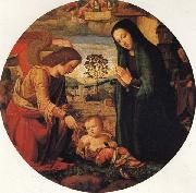 ALBERTINELLI Mariotto The Adoration of the Child with an Angel oil painting picture wholesale