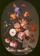 AST, Balthasar van der Flowers in a Glass Vase oil