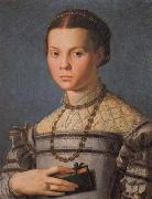 Agnolo Bronzino Portrait of a Little Gril with a Book oil painting picture wholesale
