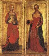 Andrea Bonaiuti St.Agnes and St.Domitilla oil