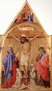 Antonio Fiorentino Crucifixion with Madonna and St.John oil