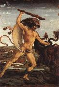 Antonio Pollaiolo Hercules and the Hydra oil