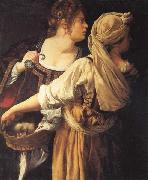 Artemisia gentileschi Judith and Her Maidser oil