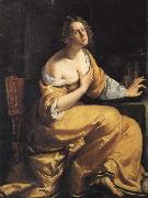 Artemisia gentileschi Mary Magdalen oil painting artist