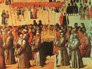 BELLINI, Gentile Procession in the Piazza di San Marco oil painting artist