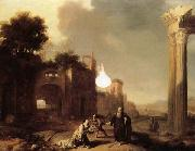 BREENBERGH, Bartholomeus The Prophet Elijah and the Widow of Zarephath oil