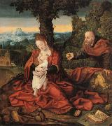 Barend van Orley Rest on the Flight into Egypt oil