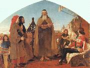 Brown, Ford Madox Wycliffe Reading his Translation of the New Testament to his Protector- John of Gaunt oil painting picture wholesale