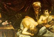 CAGNACCI, Guido Sleeping Christ with Zacharias John the Baptist oil painting picture wholesale