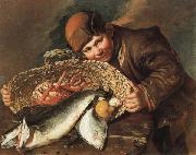 CERUTI, Giacomo Boy with a  Basket of Fish oil painting artist
