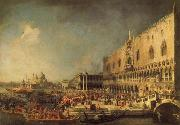 Canaletto The Reception of the French Ambassador in Venice oil painting picture wholesale