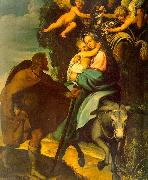 Carducci, Bartolommeo The Flight into Egypt oil painting artist