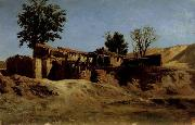 Carlos de Haes Tileworks in the Principe Pio Mountains oil painting picture wholesale
