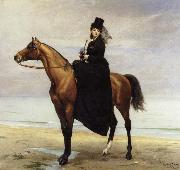 Carolus-Duran At the Seaside,Sophie Croizette on horseback oil