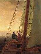 Caspar David Friedrich On a Sailing Ship oil painting picture wholesale