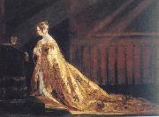 Charles Robert Leslie Queen Victoria in her Coronation Robes oil