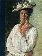Chase, William Merritt Woman in White oil painting artist