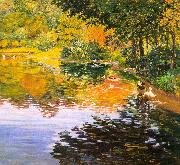 Clark, Kate Freeman Mill Pond- Moors Mill oil painting artist