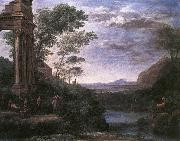 Claude Lorrain Landscape with Ascanius Shooting the Stag of Sylvia oil painting picture wholesale