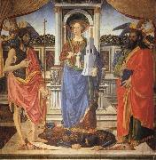 Cosimo Rosselli St.Barbara between SS.John the Baptist and Matthew oil painting picture wholesale