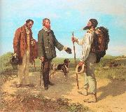 Courbet, Gustave The Meeting (Bonjour, Monsieur Courbet) oil painting picture wholesale