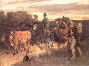 Courbet, Gustave The Peasants of Flagey Returning from the Fair Sweden oil painting reproduction